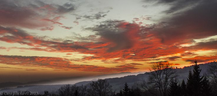 Sunset over Cernex ©CaroBlackwell2014