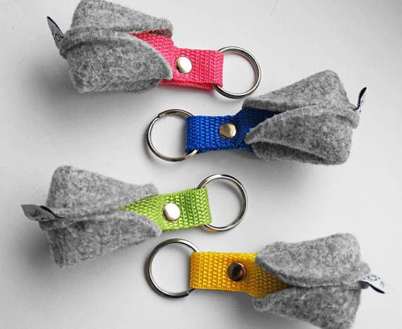 KEY CHAIN felt keychain pendant fortune cookie Key Ring