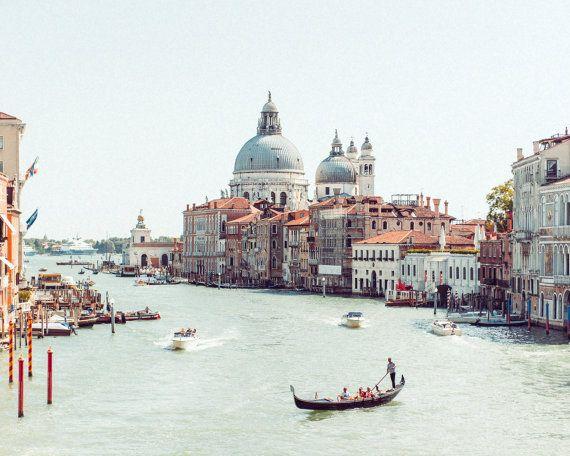 Venice Photo, Vintage Venice Print, Grand Canal Photo, Grand Canal Print, Italy Photography, Vintage Italy Print, Large Wall Art