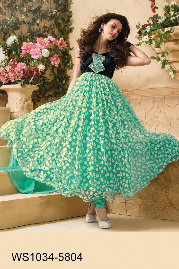 Show details for Firozi Best Designer Anarkali Suit