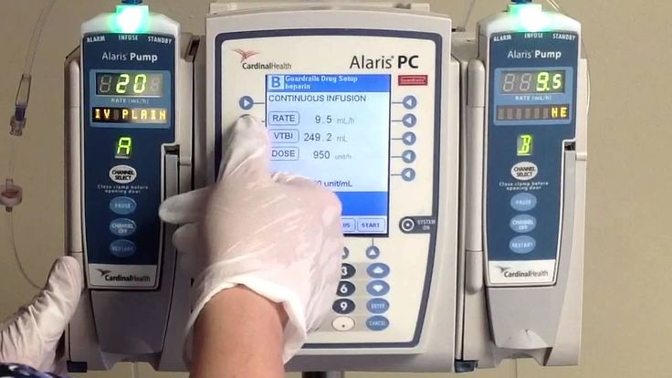 Starting a Heparin drip via Alaris pumps, using a practice set up helps build confidence in a new nurse.