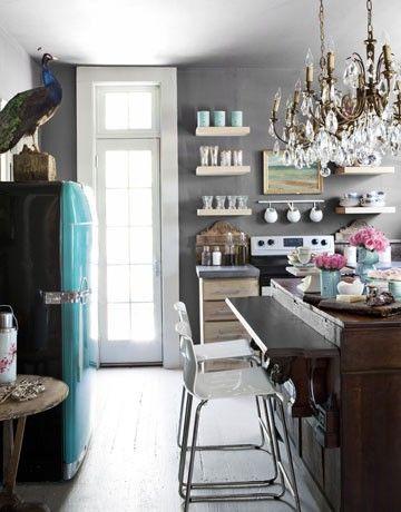 Kitchen. Grey Tone