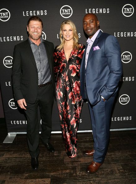Sean Bean, Ali Larter and Morris Chestnut at the 'Legends' Premieres in NYC
