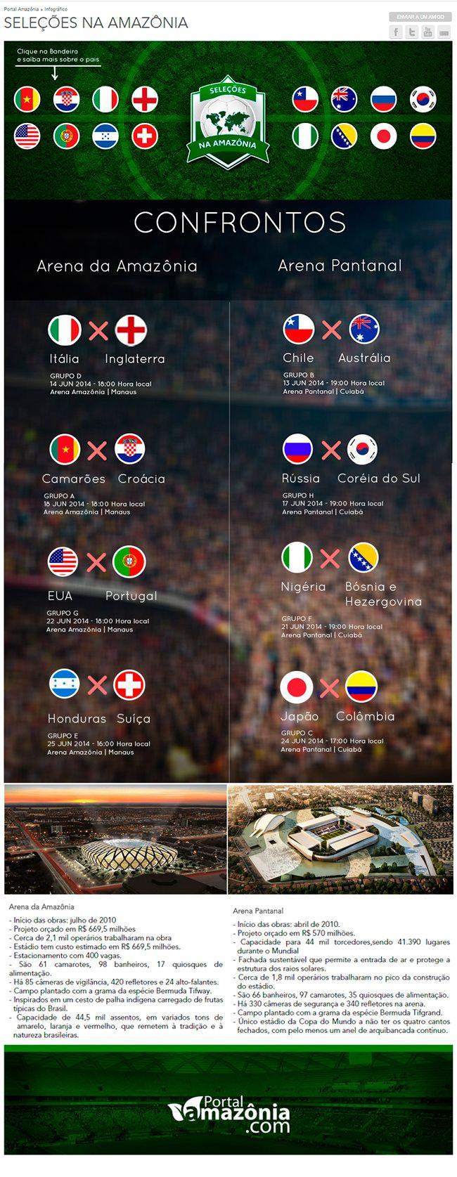 Página Web dos Infográficos das seleções na Amazônia