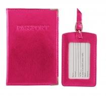 MC Leather Metallic Passport Cover & Luggage Tag Set - $15.00 #passportcover