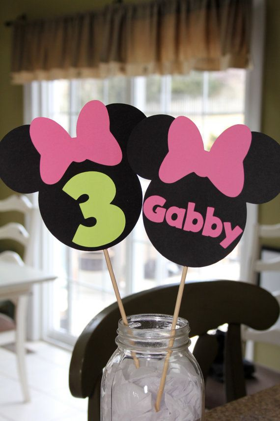 Minnie Mouse Centerpiece Stick by EmelleeGifts on Etsy