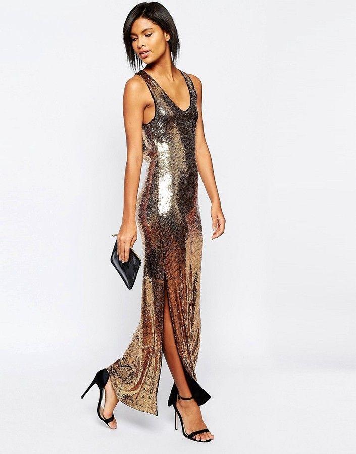 Vila Sequin Maxi Dress