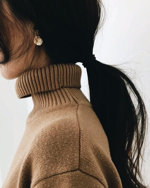 Cozy tan sweater.