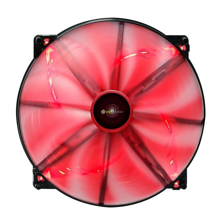 Aerocool Lightning Ventola 200mm red Led Edition fan modding case 20x20 cabinet