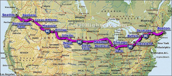 United States Map Interstate - Us map interstate