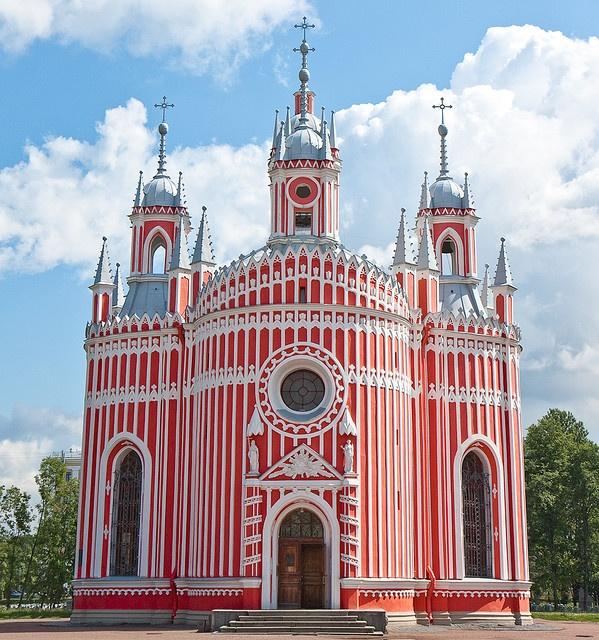 Wow!! Chesme Church, St Petersburg, Russia // Arch…