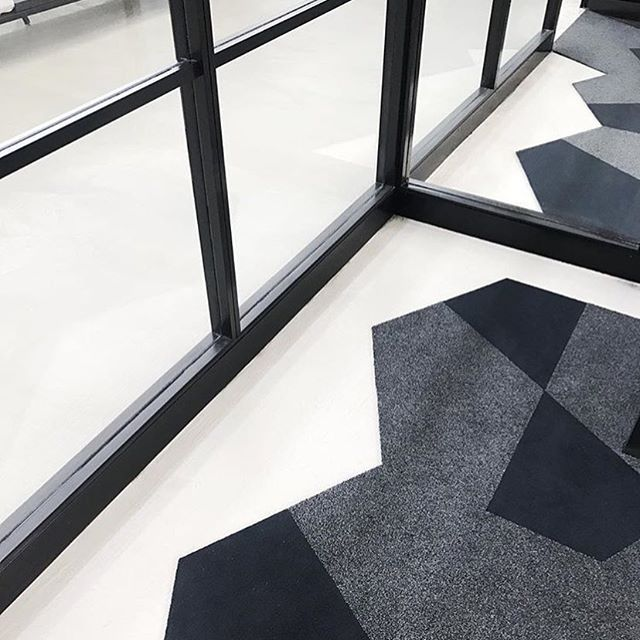 @highlinemelbourne turning their office floor into a feature with our uniquely shaped carpet tiles. #ThePossibilitiesAreEndless