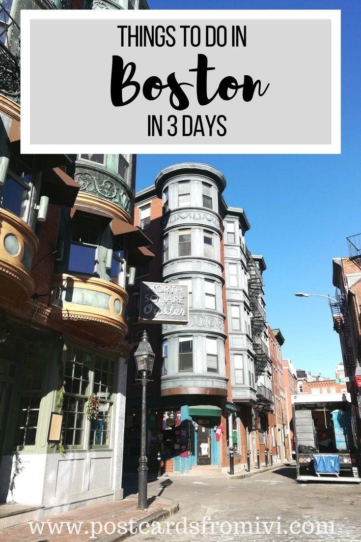 What To Do In 3 Days In Boston Boston Vacation Boston Travel