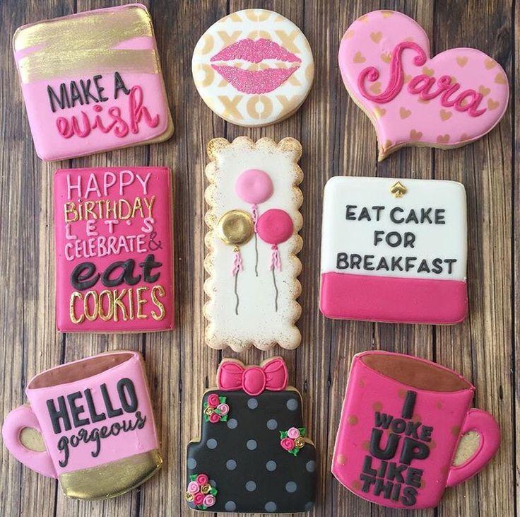 Kate Spade birthday cookies!!!