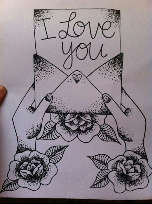I Love You Drawings: ♥ Old School Tattoo ♥