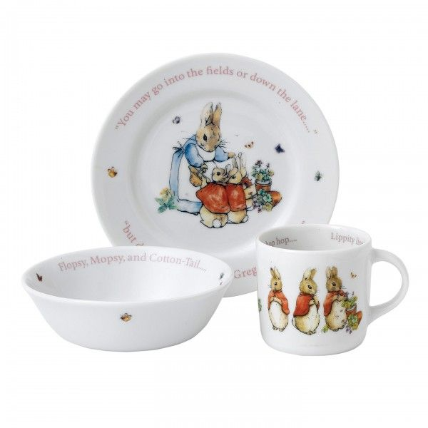 Peter Rabbit: 'Flopsy, Mopsy and Cotton-tail' 3-Piece Set