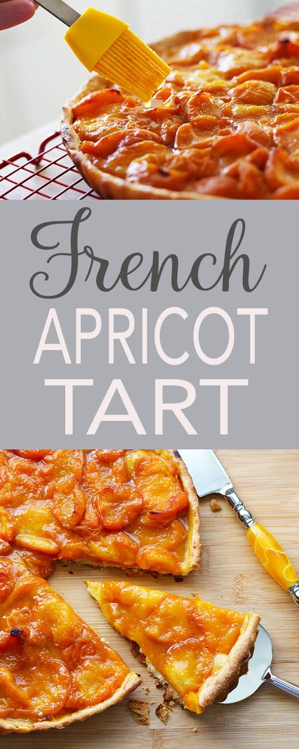 Apricots, French tart recipe, step-by-step instructions, dessert, French recipes, easy recipe. Make this for Bastille Day or Mother's day! | FusionCraftiness.com