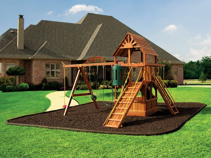 rubber mulch bed for swing set