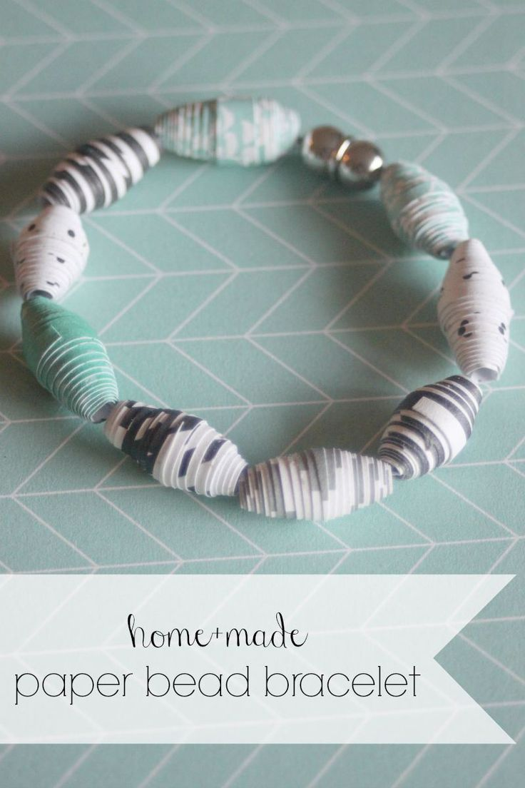 DIY Paper Bead Bracelet! Make beads out of paper and turn them into fun jewelry!