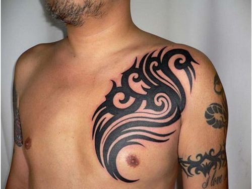 #Chest Tattoo Ideas: Tribal Chest Tattoo Design Ideas ~ tattooeve.com Tattoo Ideas Inspiration