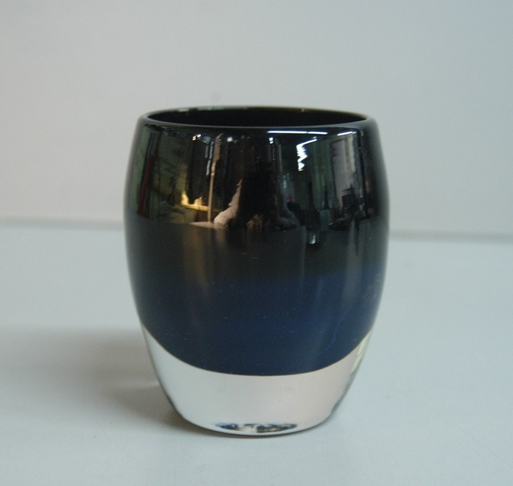 Glassybaby Midnight Colored Glass Votive Candle Holder
