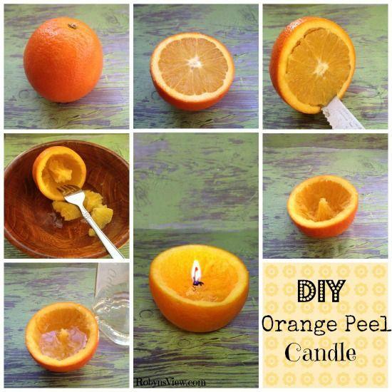 DIY Orange Peel Candle