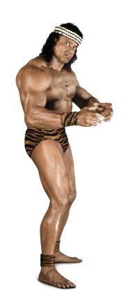 """Jimmy """"Superfly"""" Snuka  Height: 5' 10""""  Weight: 235 lbs.  From: The Fiji Islands  Signature Move: Superfly Splash  Career Highlights: ECW Champion; ECW Television Champion; United States Champion; 1996 WWE Hall of Fame Inductee"""