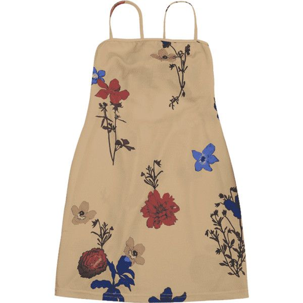 Backless Flower Cami Dress (9.395 CLP) ❤ liked on Polyvore featuring dresses, zaful, floral camisole, floral print cami, floral cami, brown cami and brown camisole