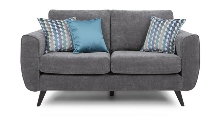 DFS Aiden Charcoal Fabric 2 Seater Sofa & 3 Scatter Cushions (164190 in Home, Furniture & DIY, Furniture, Sofas, Armchairs & Suites | eBay