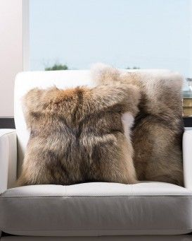 Full Pelt Coyote Fur Pillow