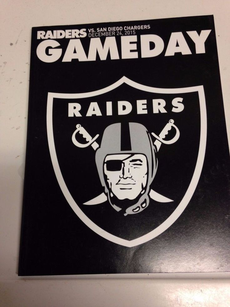 Oakland Raiders Vs Chargers Game Day Program 12/24/2015 Woodsons Last Game from $19.99