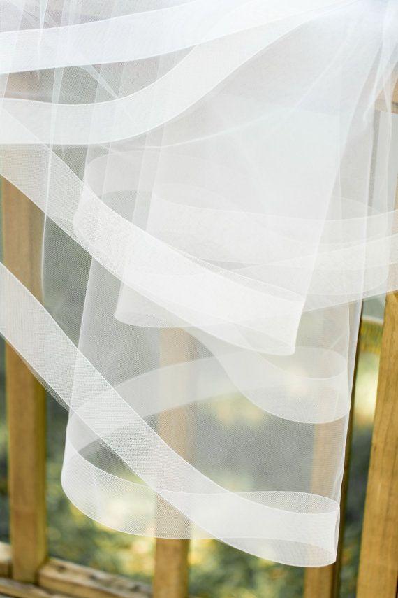 Veil with horsehair trim 2 horsehair trim wedding by julesveils