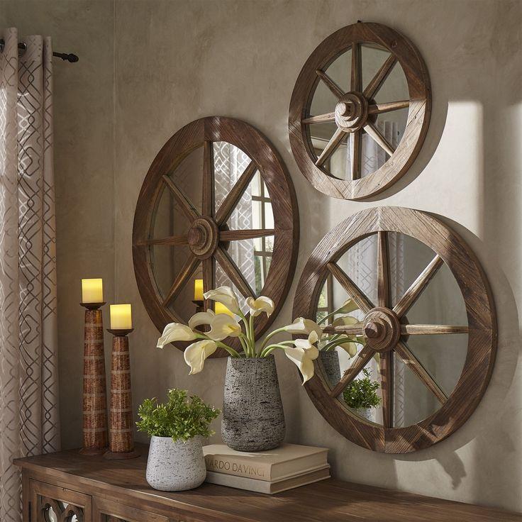 les 29 meilleures images du tableau deco roue de charette sur pinterest roues de chariot. Black Bedroom Furniture Sets. Home Design Ideas