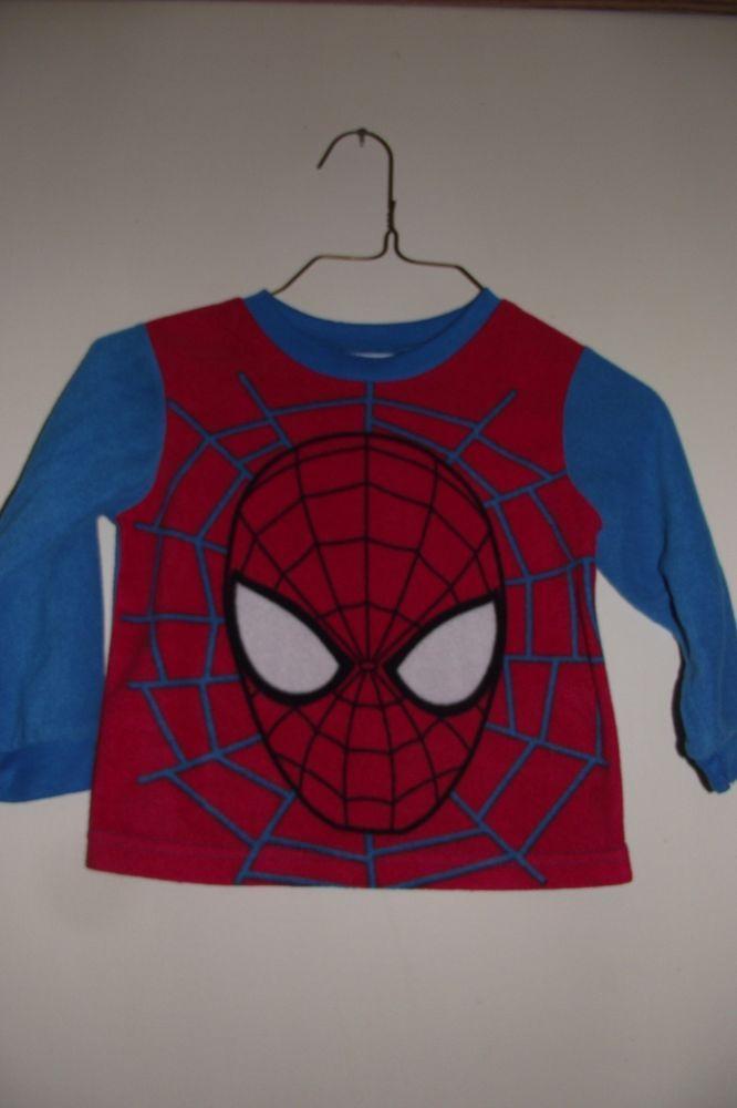 Marvel Kids Spider Man 2 Pajama Top Sleepwear Toddler Size 3T Flame Resistant Re #Marvel #OnePiece