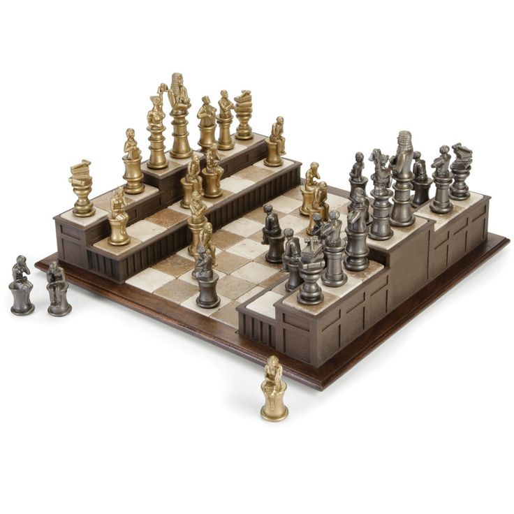 The Barrister's Chess Set - Hammacher Schlemmer - Courting all serious chess fans.