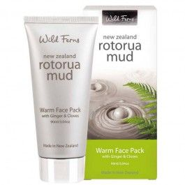 Wild Ferns Rotorua Mud Warm Face Pack with Ginger & Cloves 90ml
