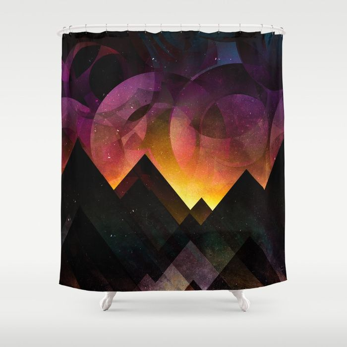 Whimsical mountain nights Shower Curtain by HappyMelvin   Society6