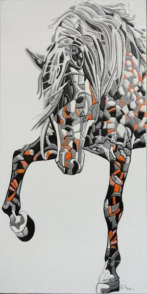 Abstract Horse 2 (Sculptural) Painting by Paula Horsley. https://www.artgallery.co.uk/work/work.aspx?mode=test&workid=142515#
