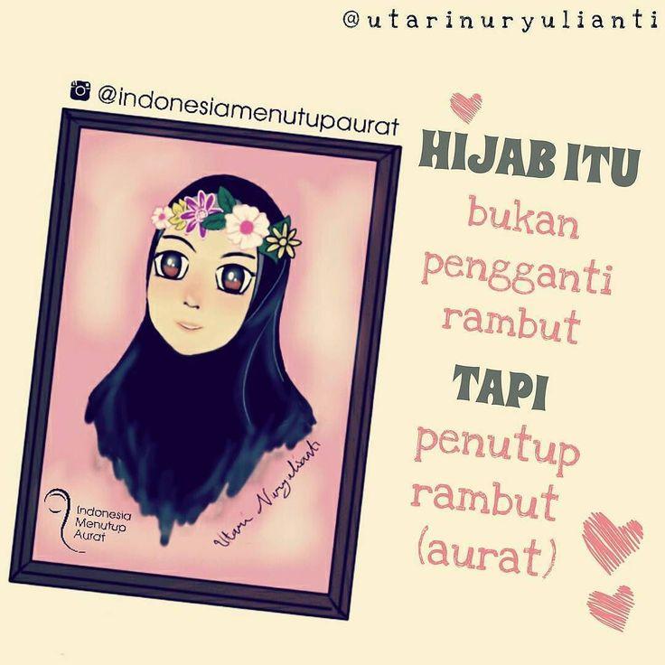 "Assalamualaikum warahmatullah shalihah .. . . Pernah di bahas sebelumnya kalo fungsi hijab itu untuk menutupi aurat termasuk rambut dan perlu di garis bawahi kalo hijab itu bukan pengganti rambut .  Jadi klo ada yg bertanya ""gimana klo yg berjijab tpi hijabnya di penuhi sama aksesories ?"" . Hijab yg menutupi aurat memang seharusnya sederhana karena sejatinya hijab itu untuk menutupi keindahan rambut dan agar tidak menjadi pusat perhatian laki-laki.  Kalo hijabnya di belit sana belit sini…"