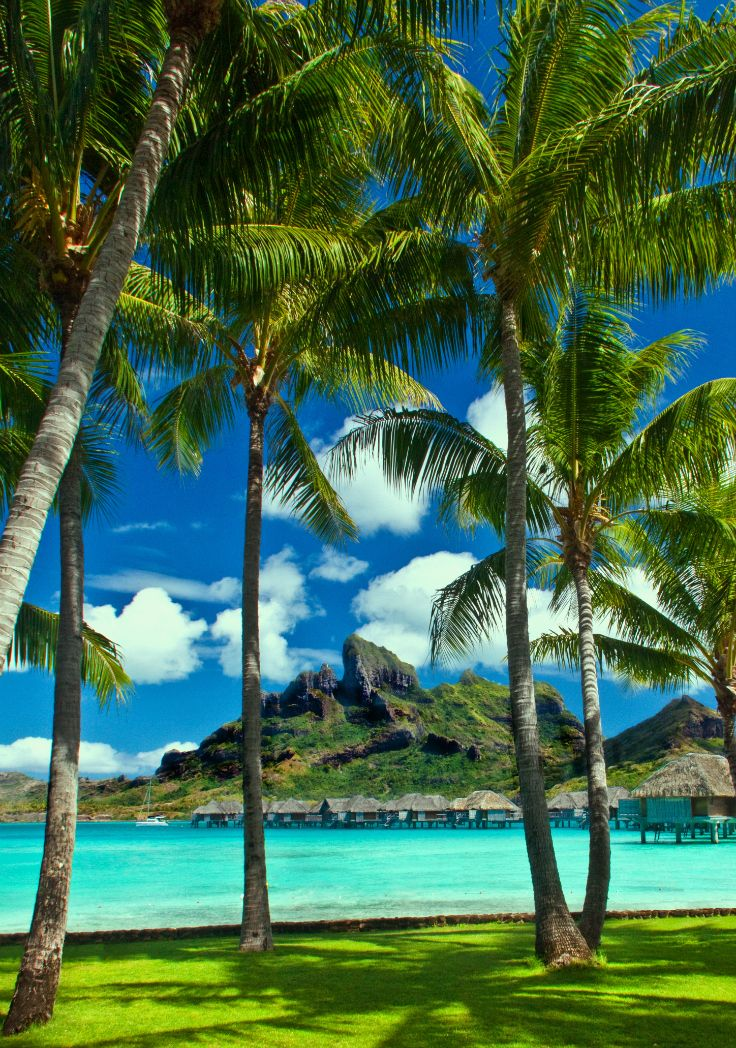 View on lagoon and Mount Otemanu, Bora Bora, Society Islands, French Polynesia. Credit: Arnie Papp