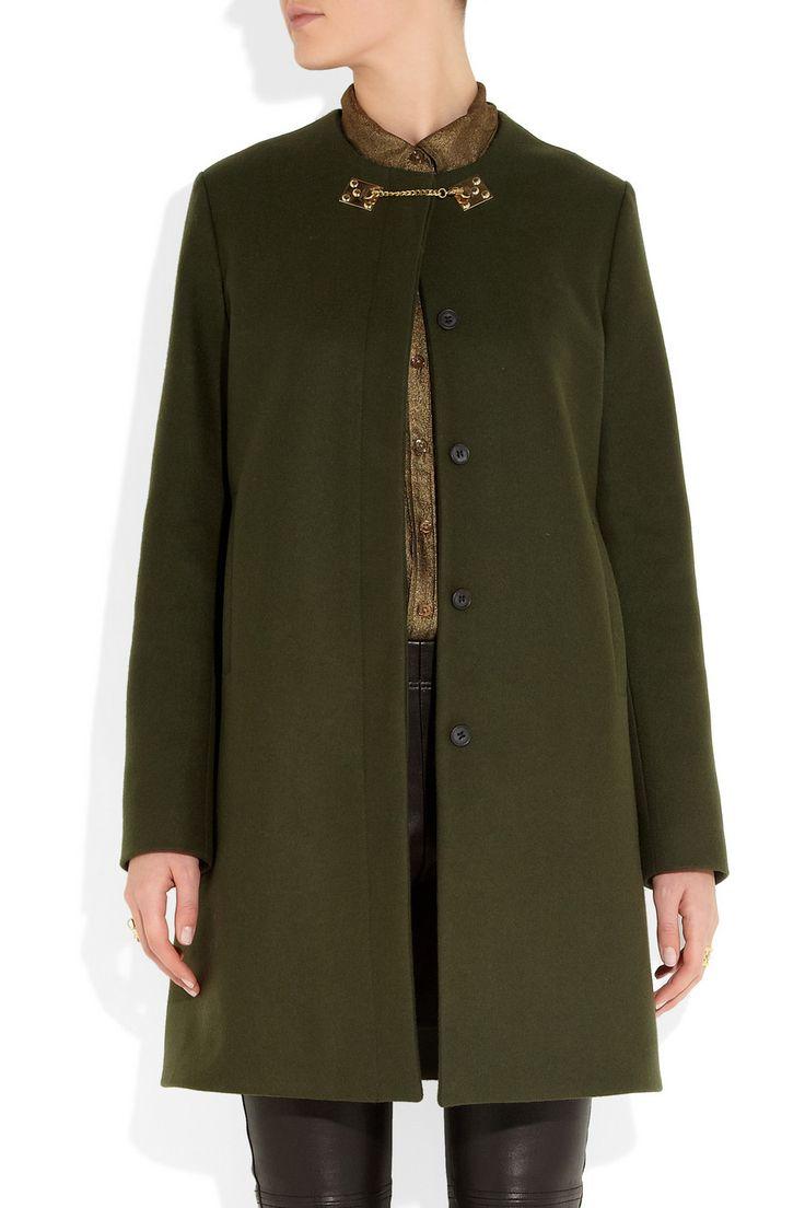 Sophie Hulme ~ Gold-plated wool-felt coat