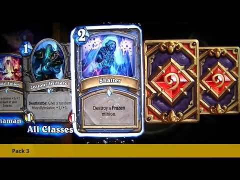 Hearthstone!!  Opening of 5 Whispers of the Old Gods packs ハースストーン 旧神のささ...