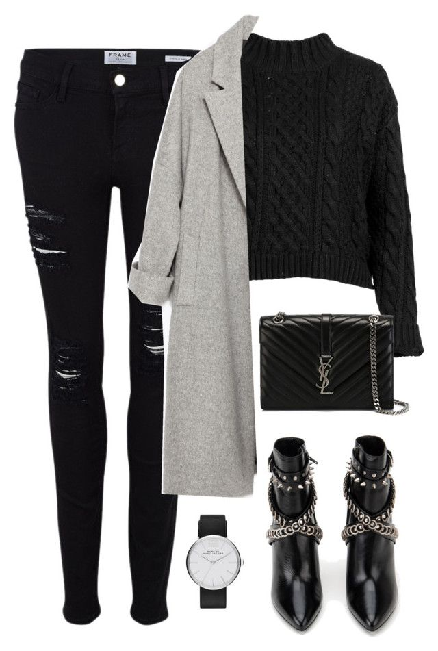 """""""Untitled #2940"""" by charline-cote ❤ liked on Polyvore featuring moda, Frame Denim, Yves Saint Laurent, Zara e Marc Jacobs"""
