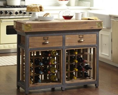 French Chef's Kitchen Island with Drawers #williamssonoma
