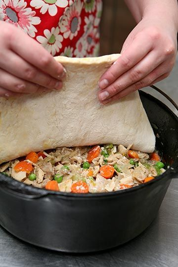 Dutch Oven Chicken pot pie recipe tried this & it was delicous!