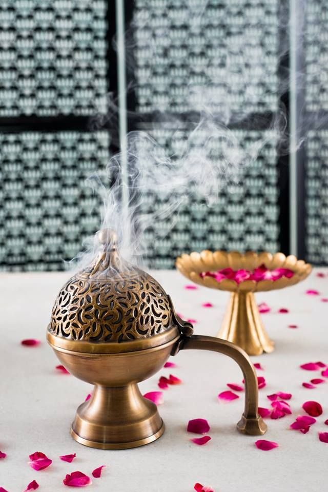 A FRAGRANT RITUAL Inspired by the magical 'chirag' (lamp) of a Persian folk tale, our 'Chirag Dhuna,' handcrafted in brass, celebrates the ancient tradition of using fragrant incense to purify the home. Use the dhuna at dawn or dusk as a daily ritual. Allow the streaming fragrant smoke to waft around the house. Use under the bed and in closets for a delicate fragrance that keeps insects at bay.  Shop the Chirag #Dhuna on our #WebBoutique .  #FragrantWorld #SustainingTradition