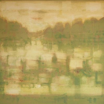"""Art Excuse River Boat by Julie Montgomery Original Painting on Wrapped Canvas Size: 35"""" H x 35"""" W x 1.5"""" D"""