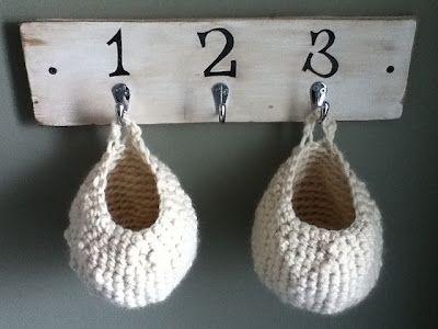 The Crochet Diaries: Pattern: Crocheted Baskets