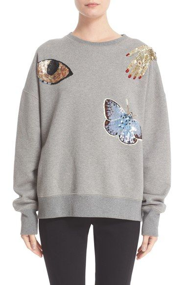 Alexander McQueen 'Obsession' Embroidered Sweatshirt available at #Nordstrom