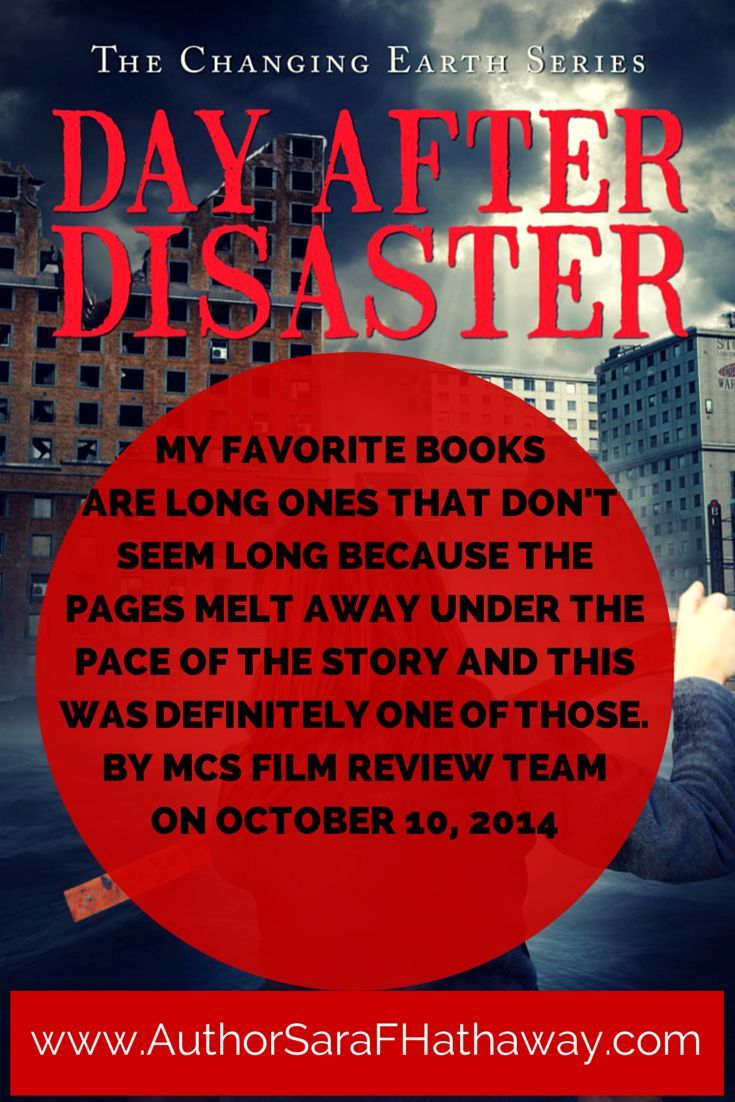 ...We're seeing a lot of social criticism through literature these days, across all genres, and I think this book definitely contributes to that trend. Movie-wise, this kind of story never goes out of style. I see it as being sort of like the Hunger Games meets the Day After Tomorrow. By MCS Film Review Team on October 10, 2014 http://www.amazon.com/Day-After-Disaster-Changing-Earth/dp/1631221345/ref=cm_cr_pr_product_top?ie=UTF8 #DayAfterDisaster #RRBC